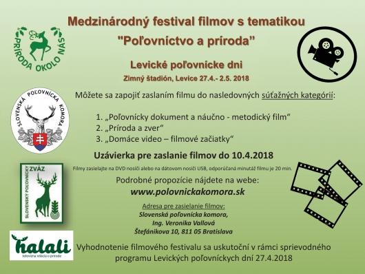 Medzinárodný festival filmov Poľovníctvo a príroda 2018