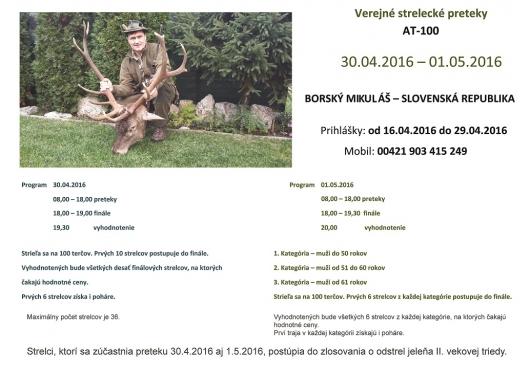 Verejné strelecké preteky AT-100 Borský Mikuláš