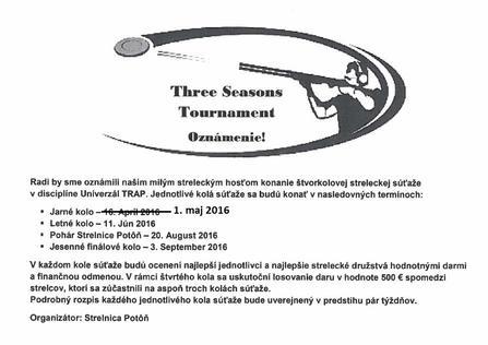 Turnaj Univerzalny TRAP - Orechova Poton