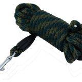 Farbiarska šnúra popruhová - guľatá (zelená / hnedá farba)