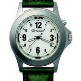 Poľovnícke hodinky Greiner kožený remienok/bez motívu