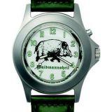 Poľovnícke hodinky kožený remienok/diviak z boku