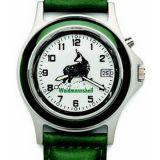 Poľovnícke hodinky s kalendárom kožený remienok/kamzík