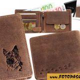 Kožená peňaženka nemecký ovčiak 1 vysoká