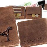 Kožená peňaženka lovecký pes ležatá
