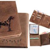Kožená peňaženka lovecký pes vysoká