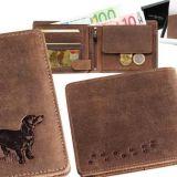 Kožená peňaženka jazvečík 3 ležatá