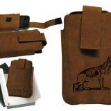 Kožené puzdro na mobil nemecký ovčiak 2