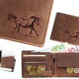Kožená peňaženka kôň 02 ležatá