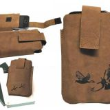 Kožené puzdro na mobil holuby 01