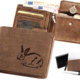 Kožená peňaženka králik ležatá