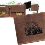 Kožená peňaženka traktor 01 ležatá