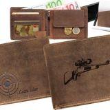 Kožená peňaženka guľovnica ležatá