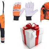 Akciový darčekový balíček - Pilčícke nohavice + rukavice + prilba