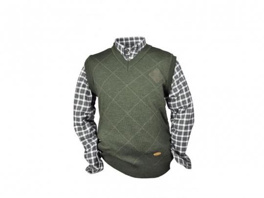 9a0b03d2fdbb Pánska pletená vesta HUBERTUS V-výstrih