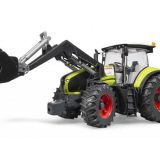 Traktor Claas Axion 950 + nakladač BRUDER