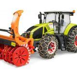 Traktor Claas Axion 950 (snehová fréza, reťaze) BRUDER