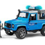 Land Rover Polícia s figúrkou BRUDER