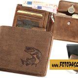 Kožená peňaženka šťuka ležatá