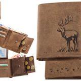 Kožená peňaženka jeleň vysoká