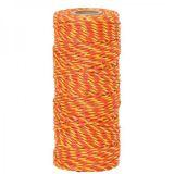 Lanko 2,5mm nerez 3x0,2 100m žlto-oranžové