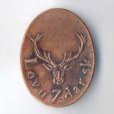 Poľovnícky odznak LovuZdar.sk - meď