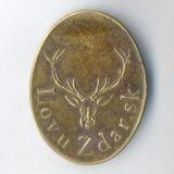 Poľovnícky odznak LovuZdar.sk - mosadz