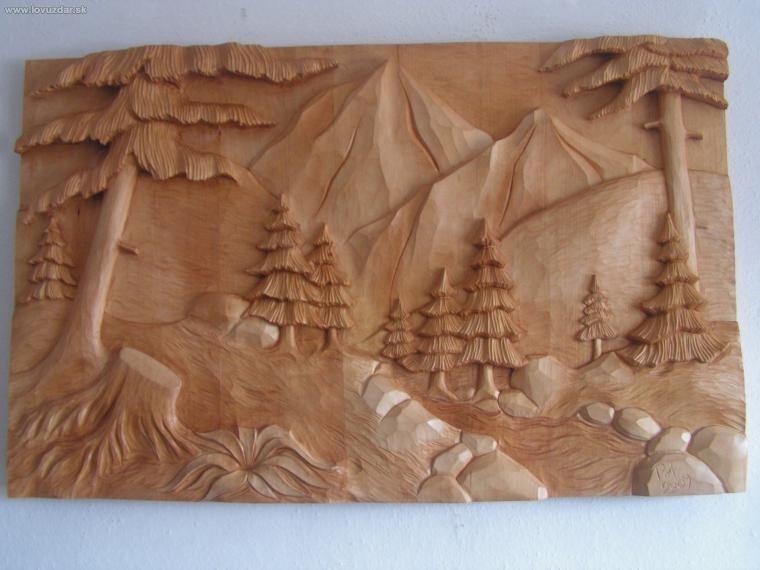 Názov: krajinka (drevorezba 100x60cm)