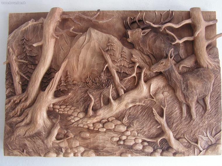 Názov: ruja (drevorezba 100x70cm)