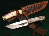 Nůž s kostěnou rukojetí