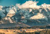 Belianske a Vysoke  Tatry z Rušinskeho vrchu