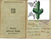 Poľovný lístok z roku1946