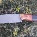 Lovecky noz N690 stabilizovaný javor a G10