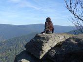 Já s výhledem na nejvyšší horu Moravy - Praděd