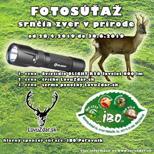 552955f0e V spolupráci s IBO POĽOVNÍK (www.ibo.sk) vyhlasujeme novú Fotosúťaž na tému  Srnčia zver v prírode.